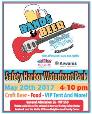 Safety Harbor Bands and Brews May 20th 4-10 pm