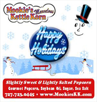 Happy Holidays Snowmen Label