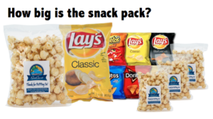 How big are Mookie's Snack Packs?
