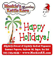 Happy Holidays Palm Tree Label