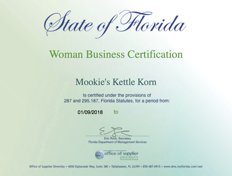 OSD MBE Certificate